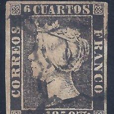 Francobolli: EDIFIL 1. ISABEL II. AÑO 1850. MATASELLOS DE ARAÑA NEGRA. PAPEL GRUESO.. Lote 217443907
