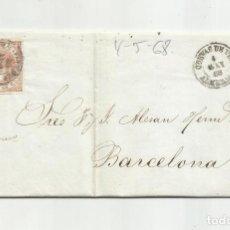 Sellos: CIRCULADA Y ESCRITA 1868 DE CUEVAS DE VERA ALMERIA A BARCELONA. Lote 217446008