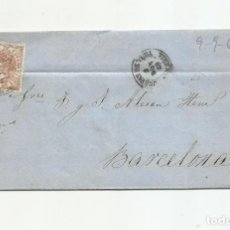 Francobolli: CIRCULADA Y ESCRITA EMBARQUE GOLETA JOVEN ANITA 1868 DE CUEVAS DE VERA ALMERIA A BARCELONA. Lote 217446180