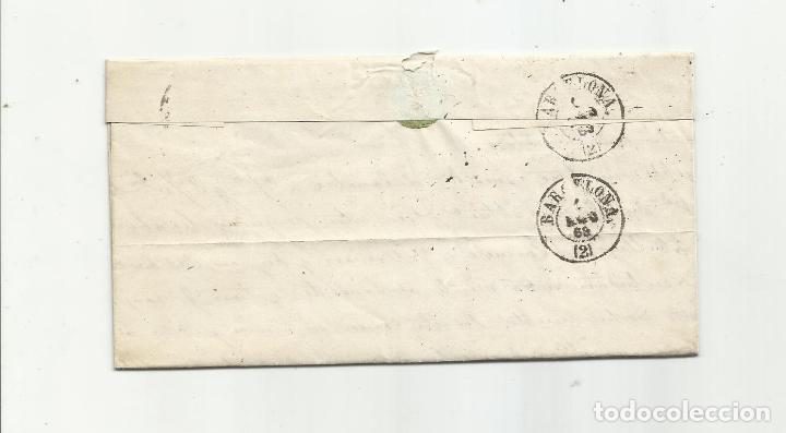 Sellos: circulada Y ESCRITA 1869 DE CUEVAS DE VERA ALMERIA A BARCELONA - Foto 3 - 217446548