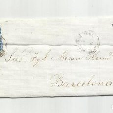Sellos: CIRCULADA Y ESCRITA 1866 DE CUEVAS DE VERA ALMERIA A BARCELONA. Lote 217446971