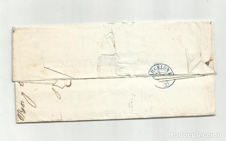 Sellos: circulada Y ESCRITA 5800 RV 290 DUROS ESPAÑOLES 1857 DE VELEZ RUBIO ALMERIA A BARCELONA - Foto 3 - 217447627