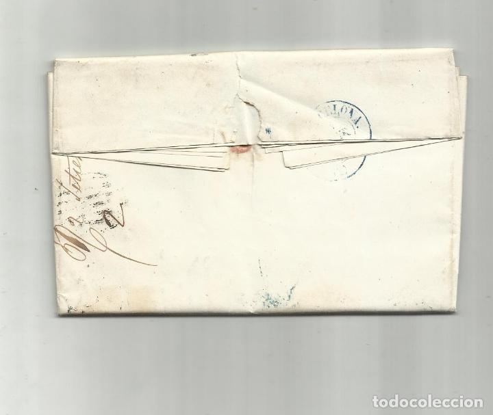 Sellos: circulada Y ESCRITA 1857 DE VELEZ RUBIO ALMERIA A BARCELONA - Foto 3 - 217447820