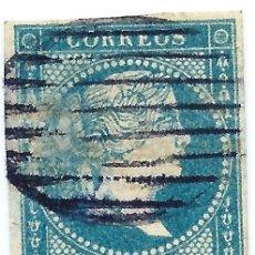 Sellos: ESPAÑA. EDIFIL N.º 0049 USADO. PARRILLA NEGRA BONITO.. Lote 218155838