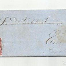 Sellos: CIRCULADA Y ESCRITA 1857 DE PRIEGO DE CORDOBA A ECIJA SEVILLA. Lote 218168708