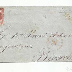 Sellos: ENVUELTA CIRCULADA 1856 A RIVADEO LUGO. Lote 218168960