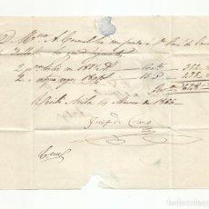 Sellos: CIRCULADA Y ESCRITA RECIBO 1856 DE MADRID A AVILA. Lote 218169512