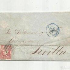 Sellos: CIRCULADA Y ESCRITA PEDIDO LOZA 1857 DE CADIZ A SEVILLA. Lote 218169581