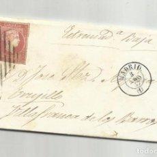 Sellos: CIRCULADA Y ESCRITA FRANCESES COMPRANDO LANA 1857 DE VILLAFRANCA DE LOS BARROS BADAJOZ A MADRID. Lote 218170426