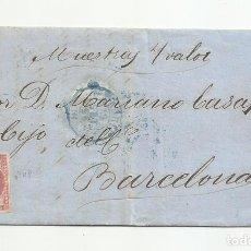 Sellos: CIRCULADA Y ESCRITA PEDIDO INDIANAS 1856 DE MADRID A BARCELONA. Lote 218180643