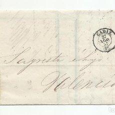 Sellos: CIRCULADA Y ESCRITA TRAFICO MARÍTIMO 1857 DE CADIZ A VALENCIA. Lote 218198166