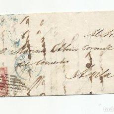 Sellos: CIRCULADA Y ESCRITA DE LA 5 YEGUAS HABIAN PARIDO TRES 1856 DE MADRID A AVILA. Lote 218198997