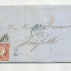 Sellos: CIRCULADA Y ESCRITA PRECIO LANA 1856 DE MADRID A TRUJILLO BADAJOZ. Lote 218199920