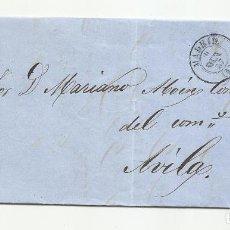 Sellos: CIRCULADA Y ESCRITA 1857 DE MADRID A AVILA. Lote 218201015