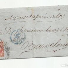 Sellos: CIRCULADA Y ESCRITA MUESTRAS SIN VALOR PARA EMBARQUE 1856 DE MADRID A BARCELONA. Lote 218201383