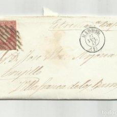 Sellos: CIRCULADA Y ESCRITA 1857 DE MADRID A VILLAFRANCA BARROS BADAJOZ. Lote 218203417