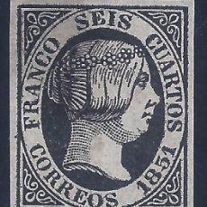 Sellos: EDIFIL 6 ISABEL II. AÑO 1851. FALSO FILATÉLICO.. Lote 218482657