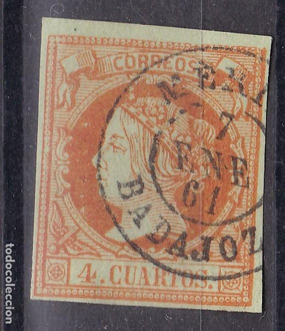 LL25- CLÁSICOS EDIFIL 52 MATASELLOS MERIDA (BADAJOZ) (Sellos - España - Isabel II de 1.850 a 1.869 - Usados)