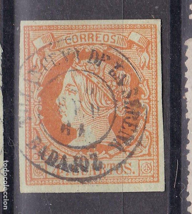 LL25- CLÁSICOS EDIFIL 52 MATASELLOS VILLANUEVA DE LA SERENA (BADAJOZ) (Sellos - España - Isabel II de 1.850 a 1.869 - Usados)
