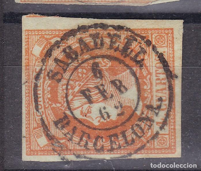LL25- CLÁSICOS EDIFIL 52 MATASELLOS SABADELL (BARCELONA) (Sellos - España - Isabel II de 1.850 a 1.869 - Usados)