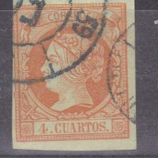 Sellos: LL25- CLÁSICOS EDIFIL 52 DOBLE MATASELLOS FECHADOR Y RUEDA CARRETA 59 (AZUL NEGRO). Lote 219030728