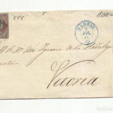 Sellos: ENVUELTA CIRCULADA 1855 DE MADRID A VITORIA CON FECHADOR LLEGADA. Lote 219293833