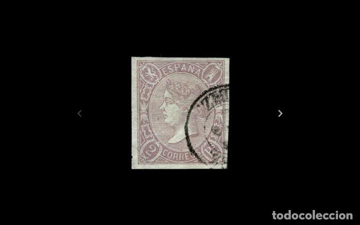 ESPAÑA - 1865 - ISABEL II - EDIFIL 73 - LUJO - FECHADOR Y GRANDES MARGENES - VALOR CATALOGO 65€. (Sellos - España - Isabel II de 1.850 a 1.869 - Usados)