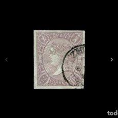 Sellos: ESPAÑA - 1865 - ISABEL II - EDIFIL 73 - LUJO - FECHADOR Y GRANDES MARGENES - VALOR CATALOGO 65€.. Lote 219313617