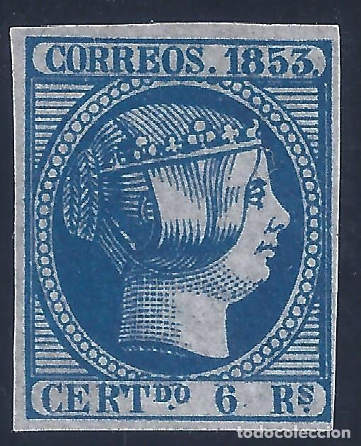 EDIFIL 21 ISABEL II. AÑO 1853. FALSO FILATÉLICO. (Sellos - España - Isabel II de 1.850 a 1.869 - Nuevos)