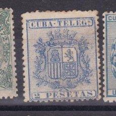 Sellos: LL2- TELEGRAFOS COLONIAS CUBA X 3 VALORES. Lote 220943512