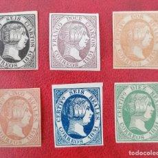 Sellos: ESPAÑA 1851 REINA ISABEL II - EDIFIL 6/11 FALSOS FILATELICOS. Lote 221095497