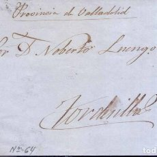 Sellos: AÑO 1864 EDIFIL 64 ISABEL II ENVUELTA A TORDESILLAS MATASELLOS ANDUJAT JAEN. Lote 221591138