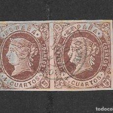 Sellos: ESPAÑA. EDIFIL 58 US. ISABEL II. MATASELLO ORTIGOSA DE CAMEROS.. Lote 221746908
