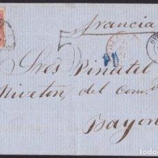 Sellos: 1861. OVIEDO A BAYONA. 12 CUARTOS CARMÍN ED. 53 MAT. RC 12 Y FECHAOR. TRÁNSITO Y P.D. MUY BONITA.. Lote 221771670