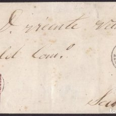 Sellos: 1863. BELMONTE A SALAS. 4 CUARTOS MARRÓN ED. 58 MAT. FECHADOR TIPO II. BONITA Y RARA ENVUELTA.. Lote 221771973