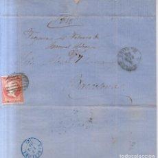 Sellos: AÑO 1856 EDIFIL 48 ISABEL II CARTA MATASELLOS REJILLA FIGUERAS GERONA. Lote 221805047