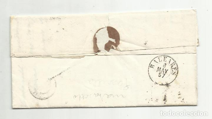 Sellos: circulada Y ESCRITA 1857 DE MADRID A PALMA DE MALLORCA - Foto 3 - 221862840