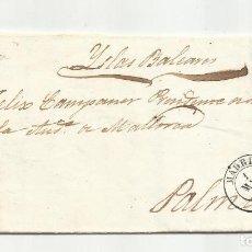 Sellos: CIRCULADA Y ESCRITA 1857 DE MADRID A PALMA DE MALLORCA. Lote 221862840