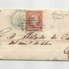 Sellos: CIRCULADA Y ESCRITA SOLO HAY DILIGENCIA HASTA SEVILLA 1856 DE MADRID A CADIZ. Lote 221863008