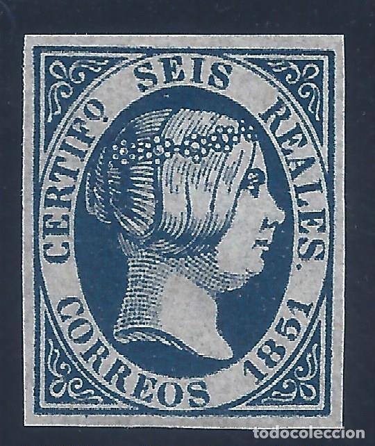 EDIFIL 10 ISABEL II. AÑO 1851. FALSO FILATÉLICO. (Sellos - España - Isabel II de 1.850 a 1.869 - Nuevos)