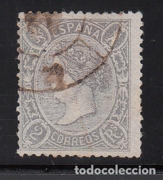 ESPAÑA, 1865 EDIFIL Nº 79, 2 R. LILA . ISABEL II. (Sellos - España - Isabel II de 1.850 a 1.869 - Usados)