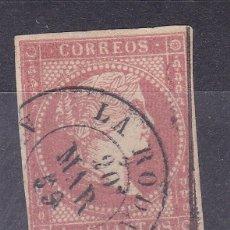 Sellos: LL12- CLÁSICOS EDIFIL 48 USADO FECHADOR LA RODA (ALBACETE). Lote 222103915