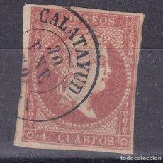 Sellos: LL12- CLÁSICOS EDIFIL 48 USADO FECHADOR CALATAYUD (ZARAGOZA ). Lote 222105362