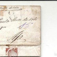 Sellos: ESPAÑA.CARTA AÑO 1838.MADRID-AJA (CANTABRIA). Lote 222135130