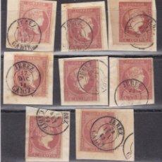Sellos: LL15- CLÁSICOS EDIFIL 48 X 8 SELLOS USADOS FECHADOR JEREZ (CÁDIZ). Lote 222197563