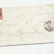 Sellos: CIRCULADA Y ESCRITA EN FRANCES 1858 DE RODA POR VIC A BARCELONA. Lote 222519871