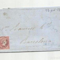 Sellos: CIRCULADA Y ESCRITA EN FRANCES 1858 DE RODA POR VIC A BARCELONA. Lote 222520000
