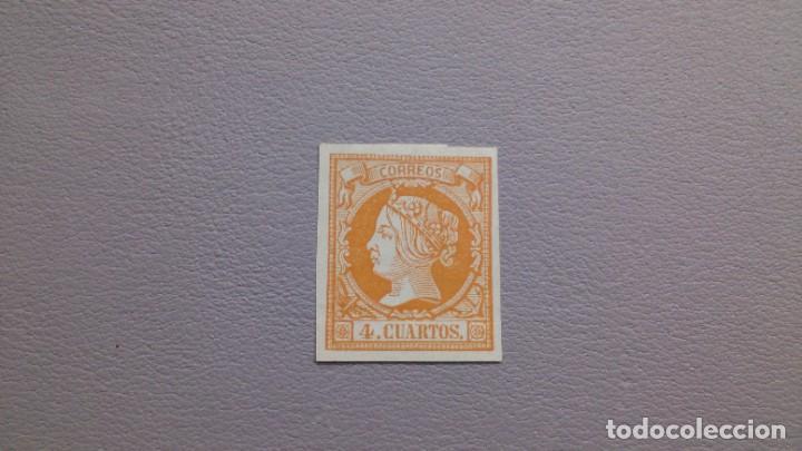 ESPAÑA - 1860-1861 - ISABEL II - EDIFIL 52 - MH* - NUEVO - GRANDES MARGENES. (Sellos - España - Isabel II de 1.850 a 1.869 - Nuevos)