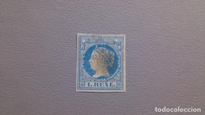 ESPAÑA - 1860-1861 - ISABEL II - EDIFIL 55 - MH* - NUEVO - MARGENES COMPLETOS. (Sellos - España - Isabel II de 1.850 a 1.869 - Nuevos)