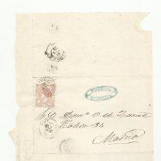 Sellos: ENVUELTA CIRCULADA 1868 DE CAROLINA JAEN A MADRID. Lote 222728626